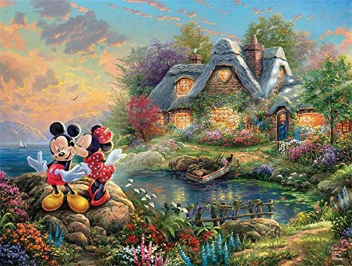 Ceaco Mickey and Minnie Mouse Thomas Kinkade Disney Jigsaw Puzzle - 750 pieces Disney Mickey Mouse Jigsaw Puzzles