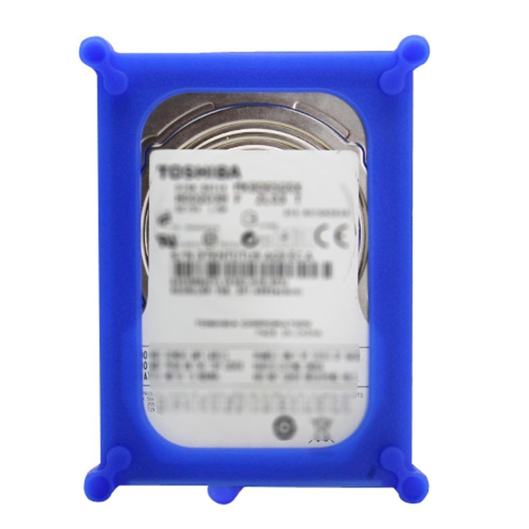 Lywey 2.5 Inch Adapter Bracket SSD HDD Notebook Mounting Tray Caddy Bay Post Useful (blue)