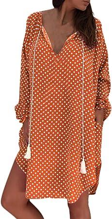 ReooLy Vestido de Playa sin Mangas de Fiesta de Verano sin Mangas para Mujer