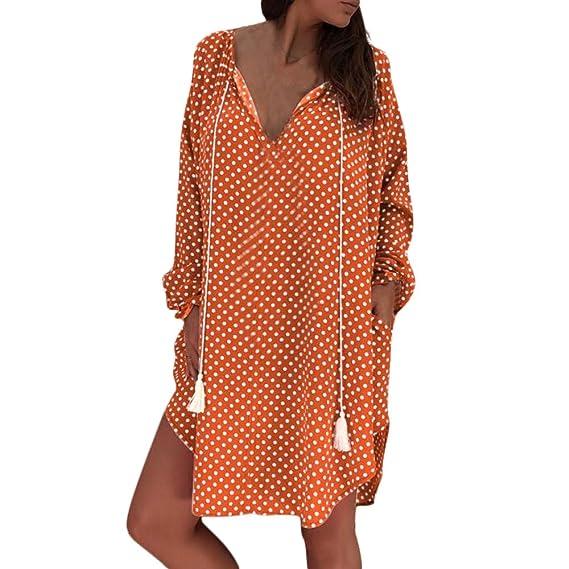 7fb9bb17bbe Zegeey Damen Loose Vintage Bohemian Sommerkleid Partykleid A-Linie  Strandkleid Maxikleid Mädchen Freizeit Kleider Frauen