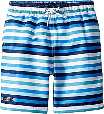 Amazon.com: Toobydoo Baby Boy's Multi Blue Stripe Swim