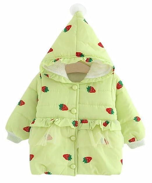 922d197c4 Amazon.com  EGELEXY Toddler Baby Girl Strawberry Winter Warm Fleece ...