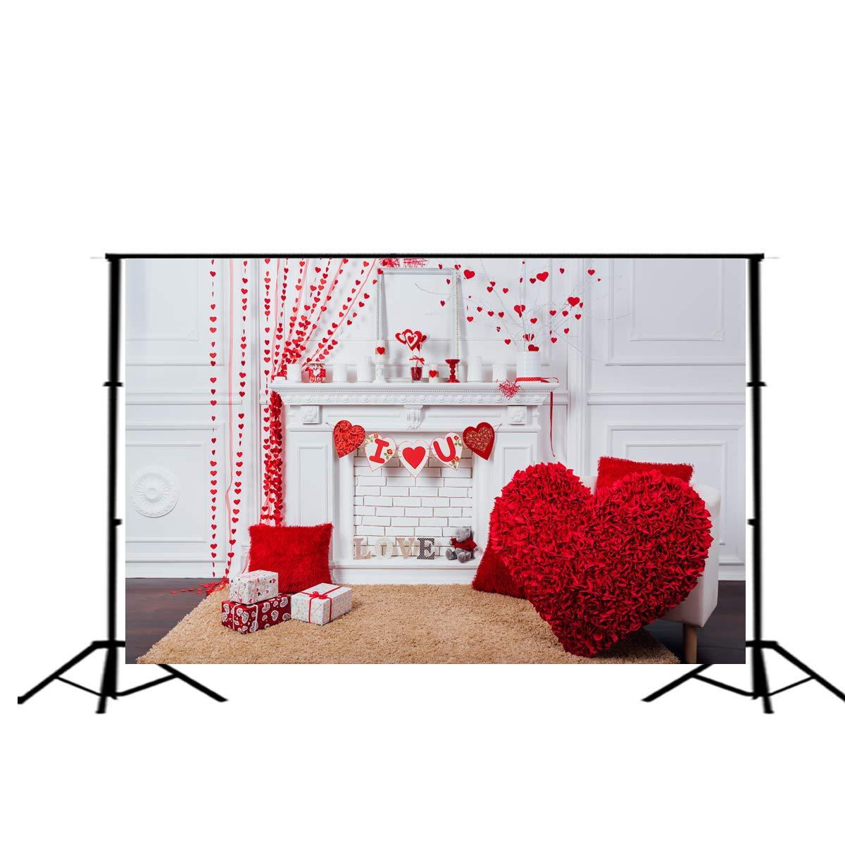 写真用背景幕 バレンタインデーの背景 結婚式のパーティー装飾 写真背景幕 バナー  3 B07MV6SPTV