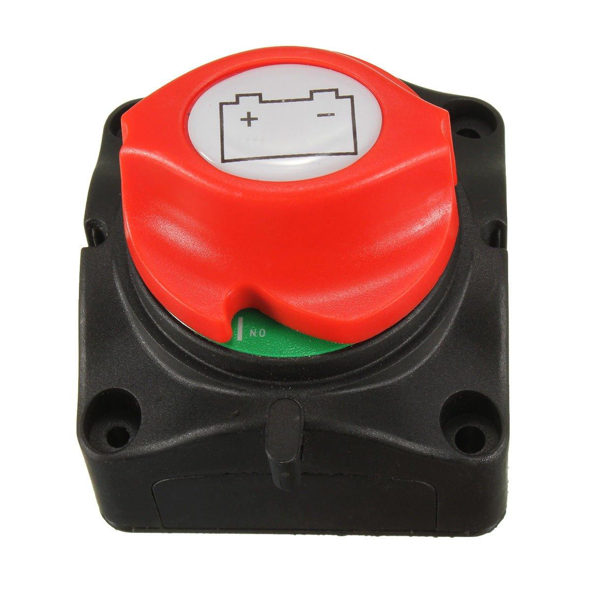 nuzamas Marine herausnehmbare Batterie Trennschalter Cut Off Power Schalter auf off 12 V/24 V fü r Auto 4 WD RV ATV Fahrzeuge Boote