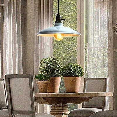 Fuloon Retro Industrial Edison Ceiling Light 1 Light Metal Shade Loft Coffee Bar Kitchen Hanging Pendant Light Lamp