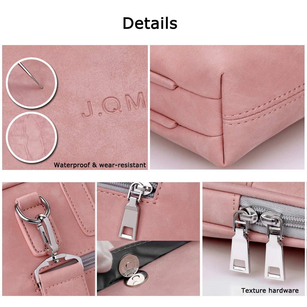 Sokaly 13-15.6 Pulgadas Mujer Hombre Bolso de PU Cuero Bandolera//Malet/ín//Mensajero Funda para Laptop Macbook Air iPad Port/átil Moda y Negocios 13.3 Pulgadas, Rosa