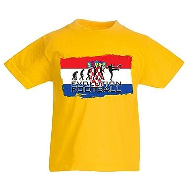lepni.me Camiseta Niños/Niñas La Evolución del Equipo Nacional de Fútbol de Croacia, Copa Mundial 2018 Rusia: Amazon.es: Ropa y accesorios