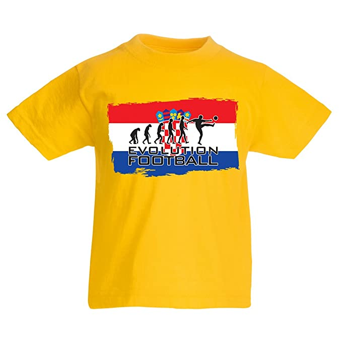 Camiseta Niños/Niñas La evolución del Equipo Nacional de fútbol de Croacia, Copa Mundial