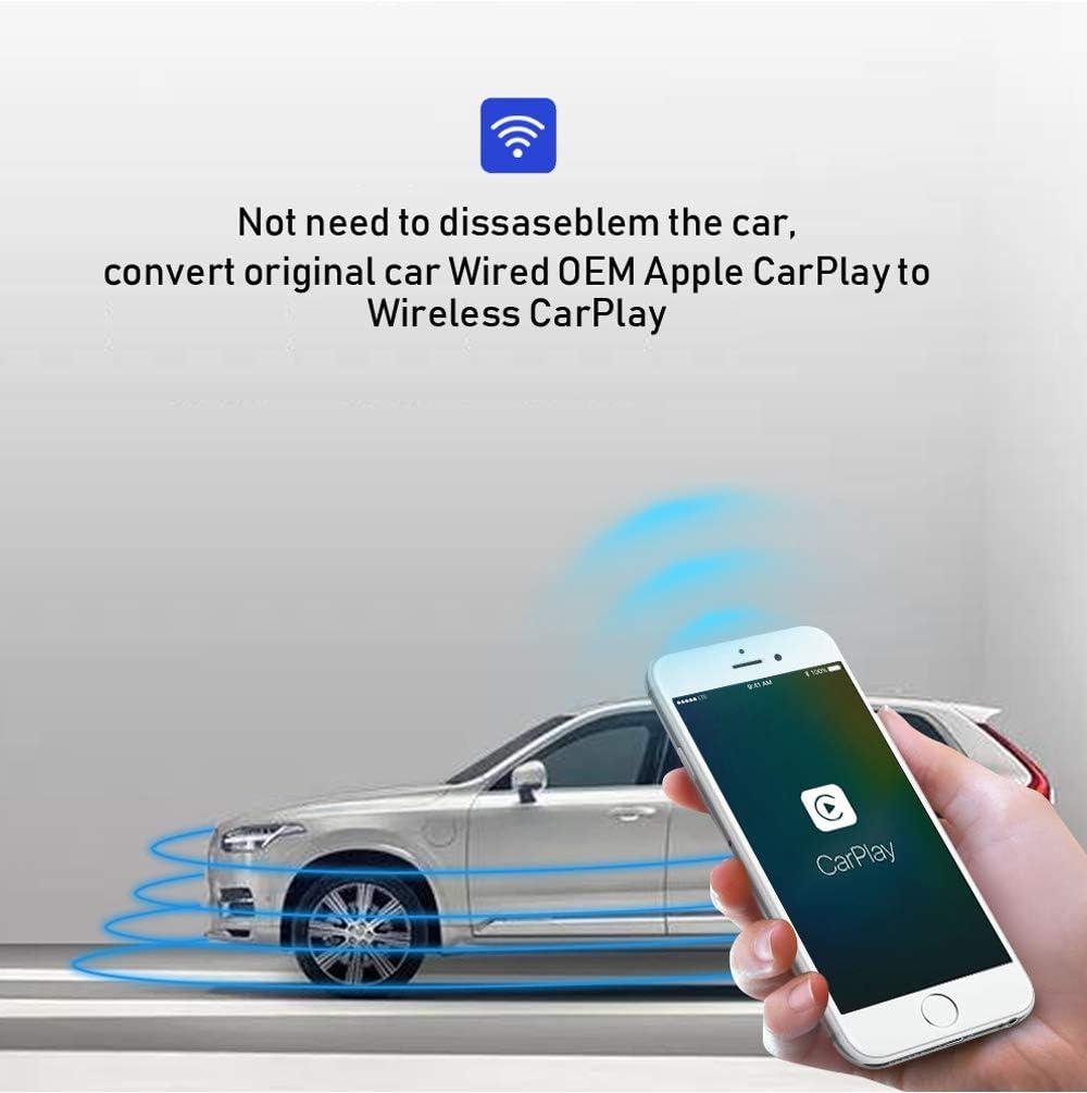 Type C Design Online Upgrade Adapter iOS 13-14 for Factory Wired CarPlay Cars Carlinkit 2.0 Wireless CarPlay Adapter U2W Convert Wired to Wireless CarPlay for Audi//Porsche//Volvo//Volkswagen