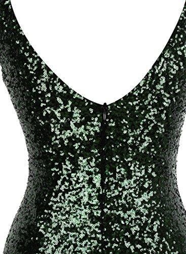 Gatsby Grün fashions Abendkleid Ballon Ausschnitt V Flapper Angel Damen Gold Pailletten pxwqgOS