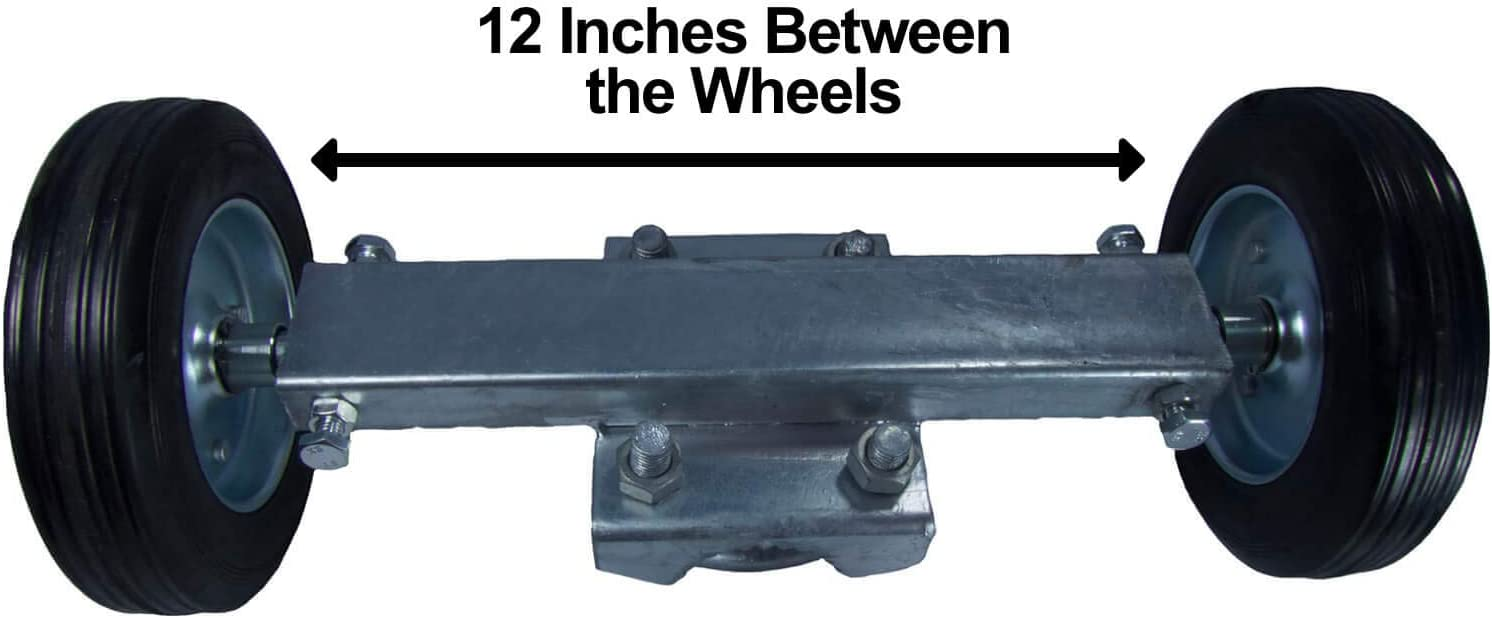 ROLLING GATE 6 WHEEL CARRIER: for Chain Link Fence Rolling//Sliding Gates Gate Wheel Rut Runner axle is 7 from Wheel to Wheel 2 Rubber Wheels