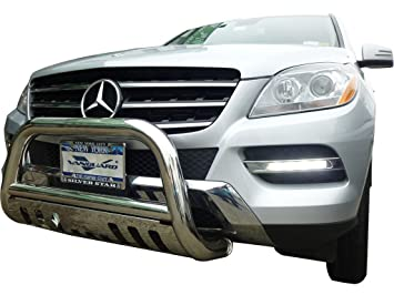 Vanguard Compatible with Mercedes Benz 2012-2015 ML ML350 W166 Front Bull A Bar S//S