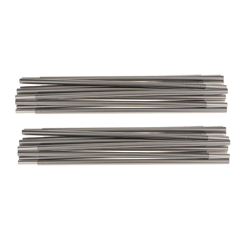 485cm MagiDeal Stabil 13 Abschnitten Zeltstange aus Hochwertig Aluminum Alloy Silbergrau