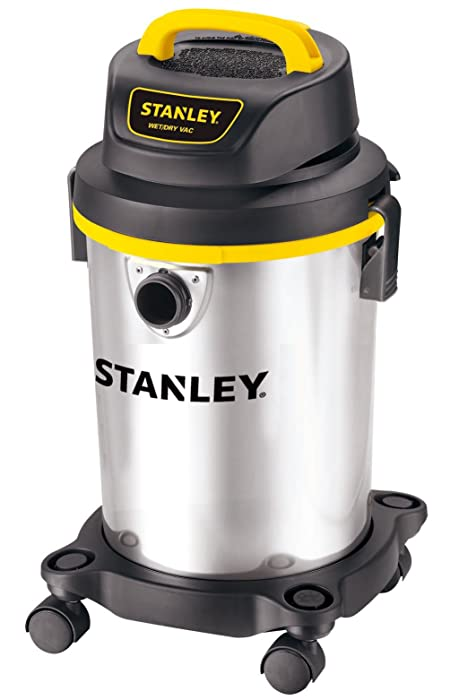 Stanley Wet/Dry Vacuum, 4 Gallon, 4 Horsepower, Stainless Steel Tank