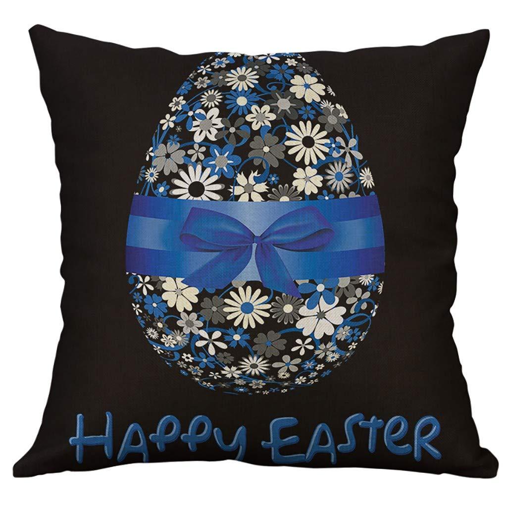 YAYUMI Cotton Linen Square Home Decorative Throw Pillow Case Sofa Waist Cushion Cover