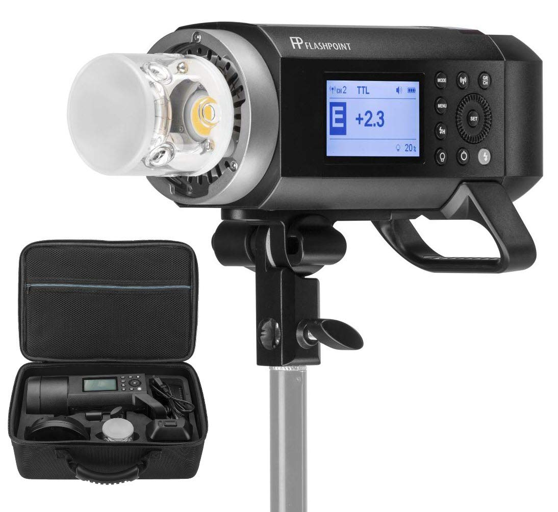 Flashpoint XPLOR 400PRO TTL Battery-Powered Monolight with Built-in R2 2.4GHz Radio Remote System (with Bowens Mount Adapter) - Godox AD400 Pro