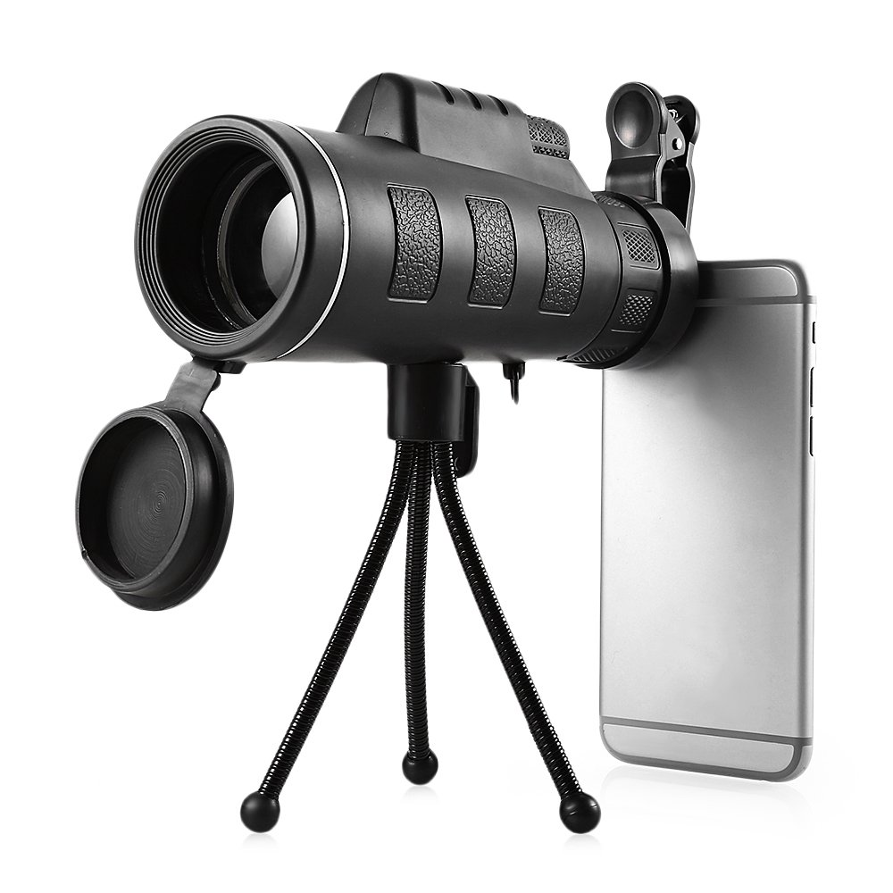 Finlon Generic Monocular Telescope Telephoto Lens Optical Prism Mobile Phone Camera Lens for Iphone Samsung HTC Huawei Sony and More
