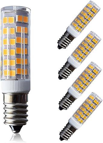 Lampaous E14 Ses Led Birne 7w Ersatz Für 50w Glühlampe Dunstabzugshaubenlampe Nähmaschinenlampe Warm Weiß 3000k 360 Abstrahlwinkel 230v Fuer Stehlampe Salzlampen Kronleuchter 4er Pack Amazon De Beleuchtung