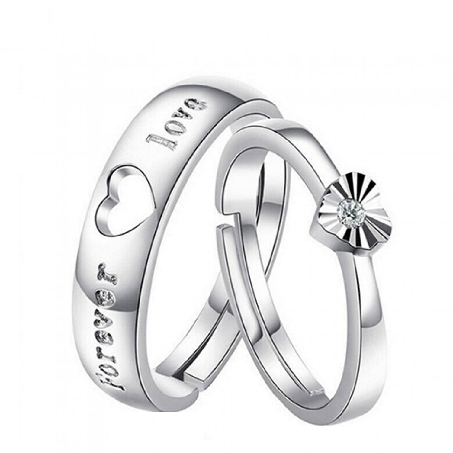 gift p endless women s stainless jewelry love mens ring silver steel men lover rings