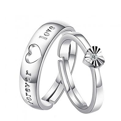 2e78e8206d Buy 19 Likes Love Gifts Silver Metal Alloy Size Adjustable Finger Rings for  Couples for Women Online at Low Prices in India | Amazon Jewellery Store ...