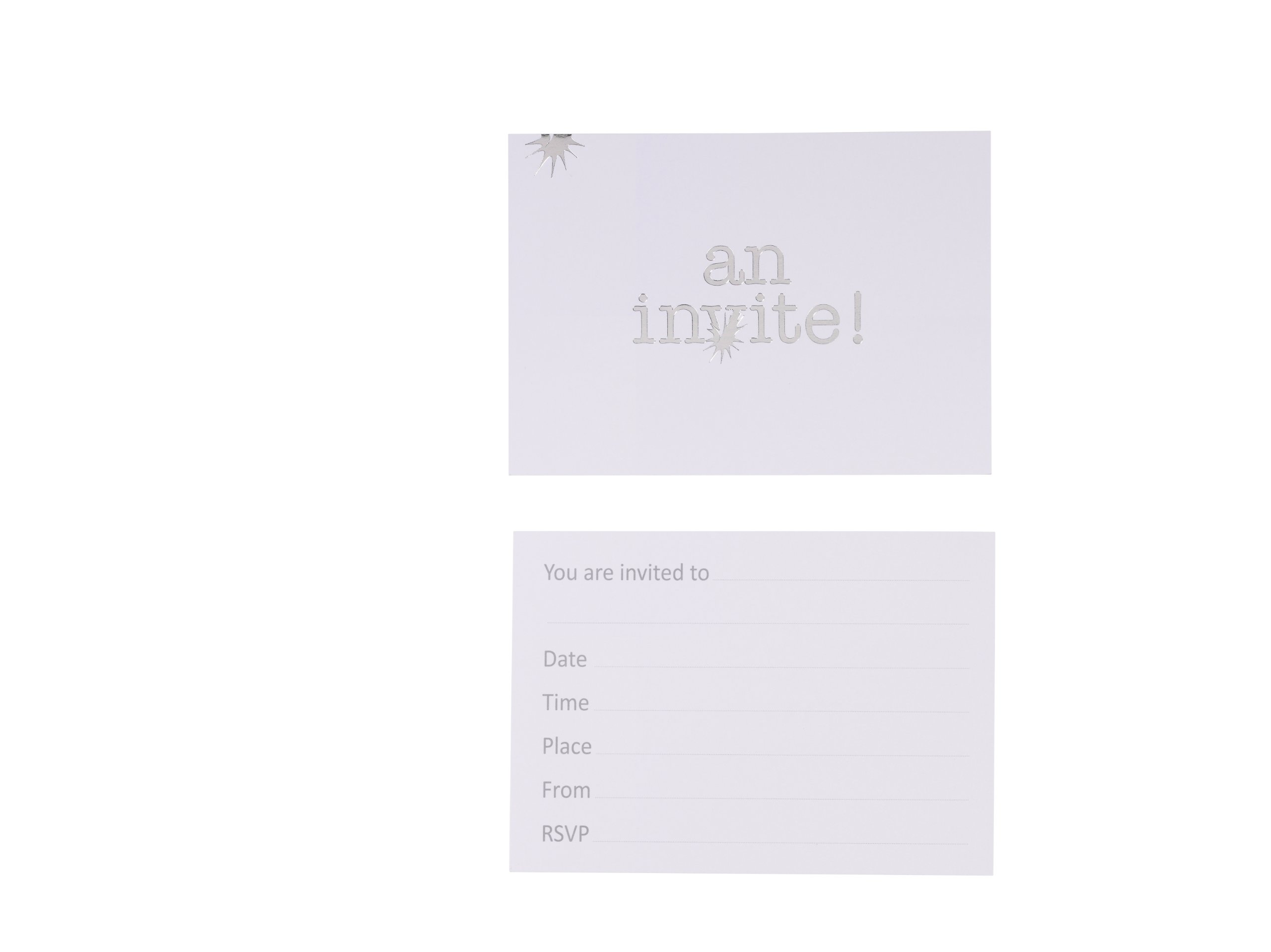 TALKING TABLES SIMPLY SILVER 2011 10 Count Invitation Cards with Envelopes