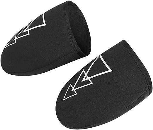 lzndeal 1 par de Zapatos para Bicicleta Cubrir la Mitad del Dedo del pie de la Cerradura Protector de Bicicleta a Prueba de Viento Cubre Zapatillas