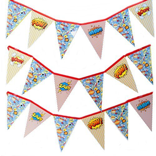 Out of This Universe Superhero Pennant Banner Decoration (Super Hero Decorations)
