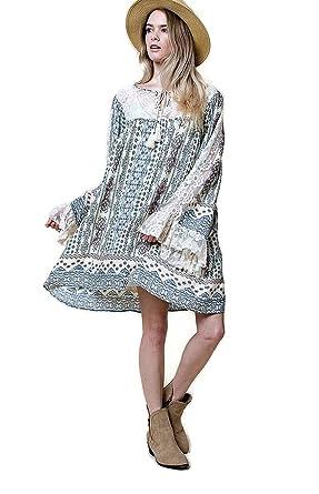 Kori America Women\'s Boho Ruffles & Lace Dress Plus Size at ...