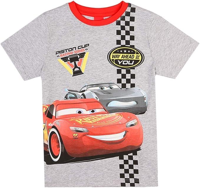 Disney Niños Cars Camiseta, Gris Clair Melange, Talla 128, 8 años: Amazon.es: Ropa y accesorios
