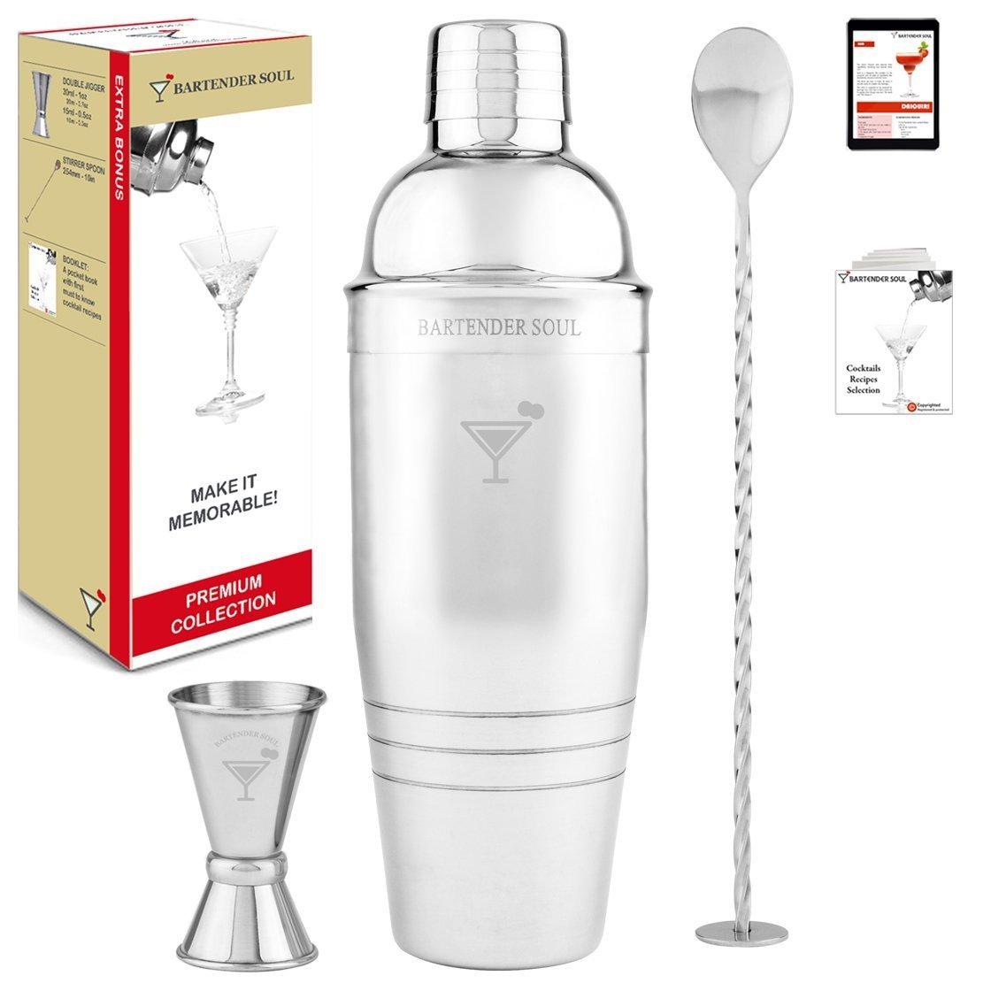 Premium Cocktailshaker Set von BARTENDER SOUL - 770ml ...