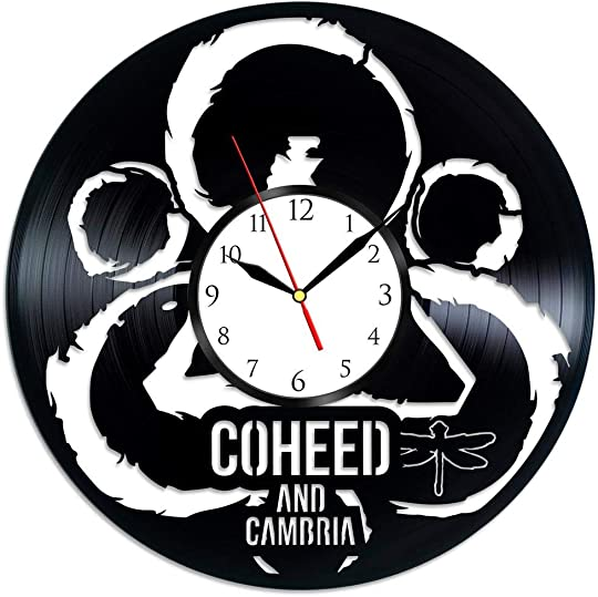 GoodIdea Art Coheed and Cambria Music Vinyl Record Wall Clock