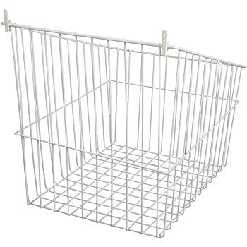 Amazon Com Kv Tilt Out Wire Hamper 13 1 2 Quot Wide White