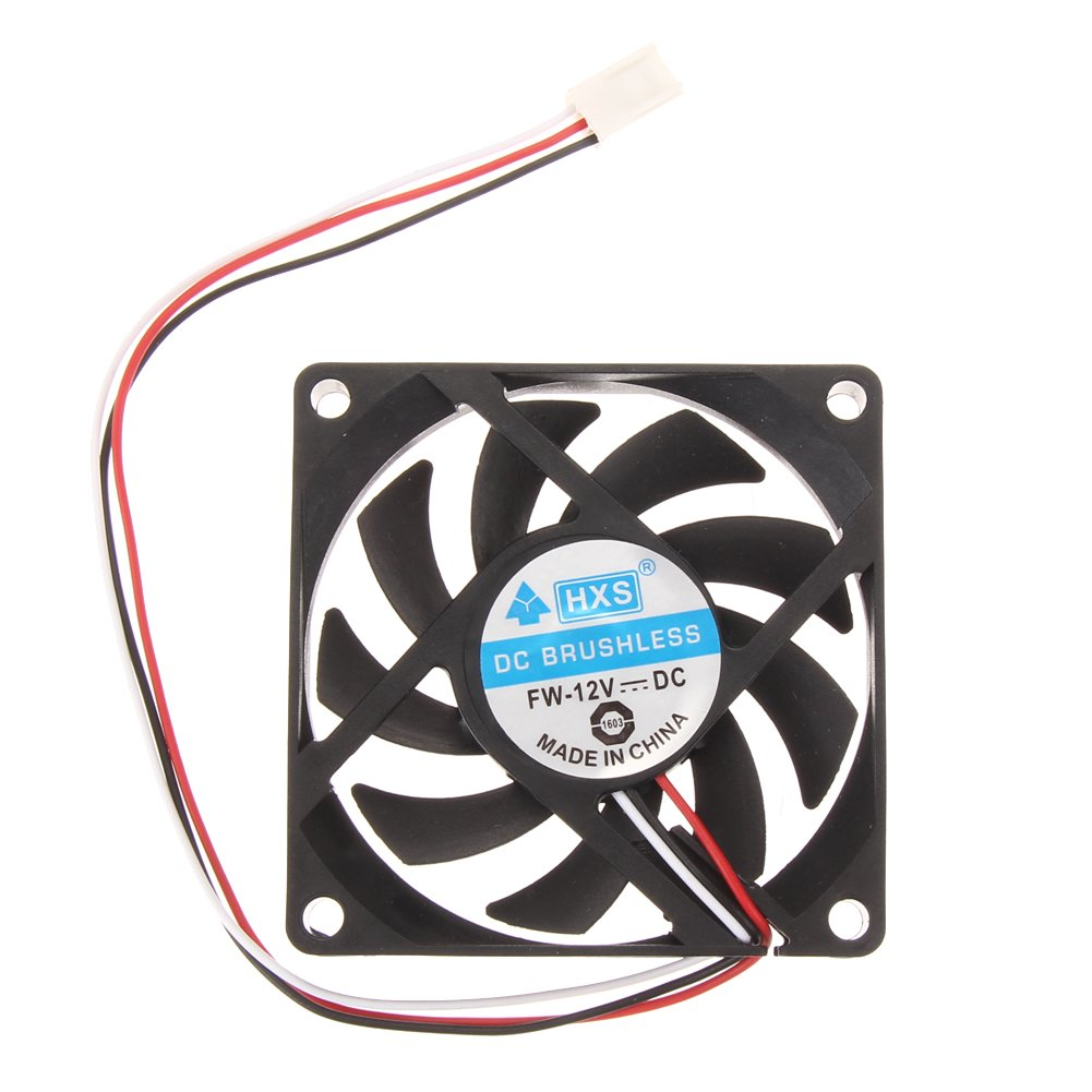 DC 12V 3Pin 70mm 70x70x15mm Brushless Computer Case Cooler PC CPU Cooling Fan