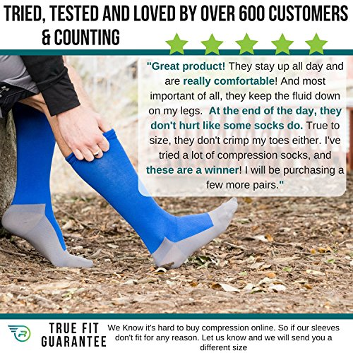 baca233a8e Compression Socks for Men & Women – Best Medical Grade Graduated Recovery  Stockings for Nurses,
