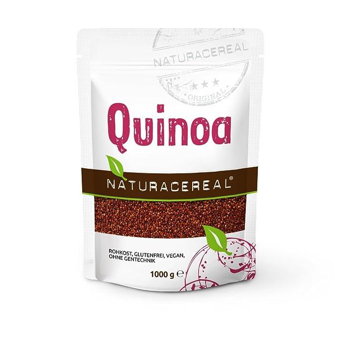 Semillas de Quinoa Roja 1 kg - NATURACEREAL: Amazon.es: Salud y ...
