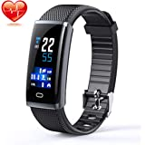 Aunzo Smart Watch Fitness Tracker Wristband - Heart Rate Monitor, Pedometer, Sleep Monitor & Step Counter | IP67 Waterproof Sports Bracelet For Men & Women | Sedentary Reminder & Smartphone Compatible