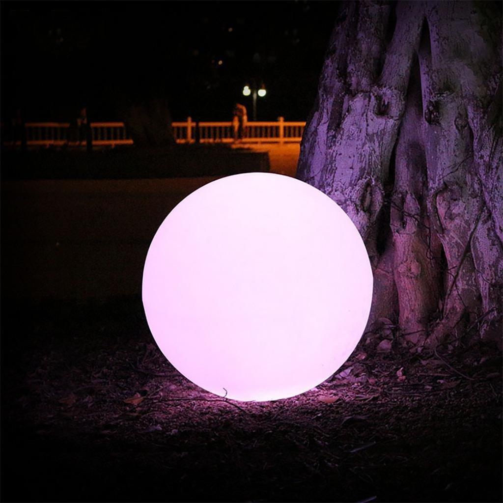Augrous LED All'aperto Lampada da terra 16 colore Mutevole Palla Impermeabile Decorazione Lampada con Telecomando per Soggiorno Camera da letto Corridoio Sala (dimensioni   D40cm)