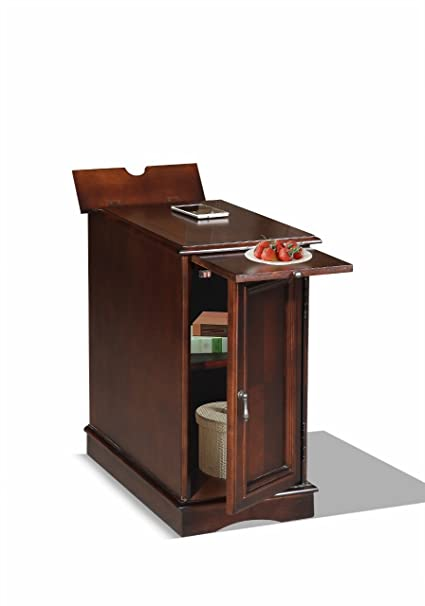 Charmant Premium 3550 Chairside End Table With USB And Power Outlet Charging Ports  And Tray In Espresso