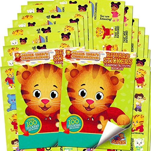 Daniel Tiger Stickers ~ Over 200 Reward Stickers (Set of 2 Sticker Pads) (Tiger Toddler)