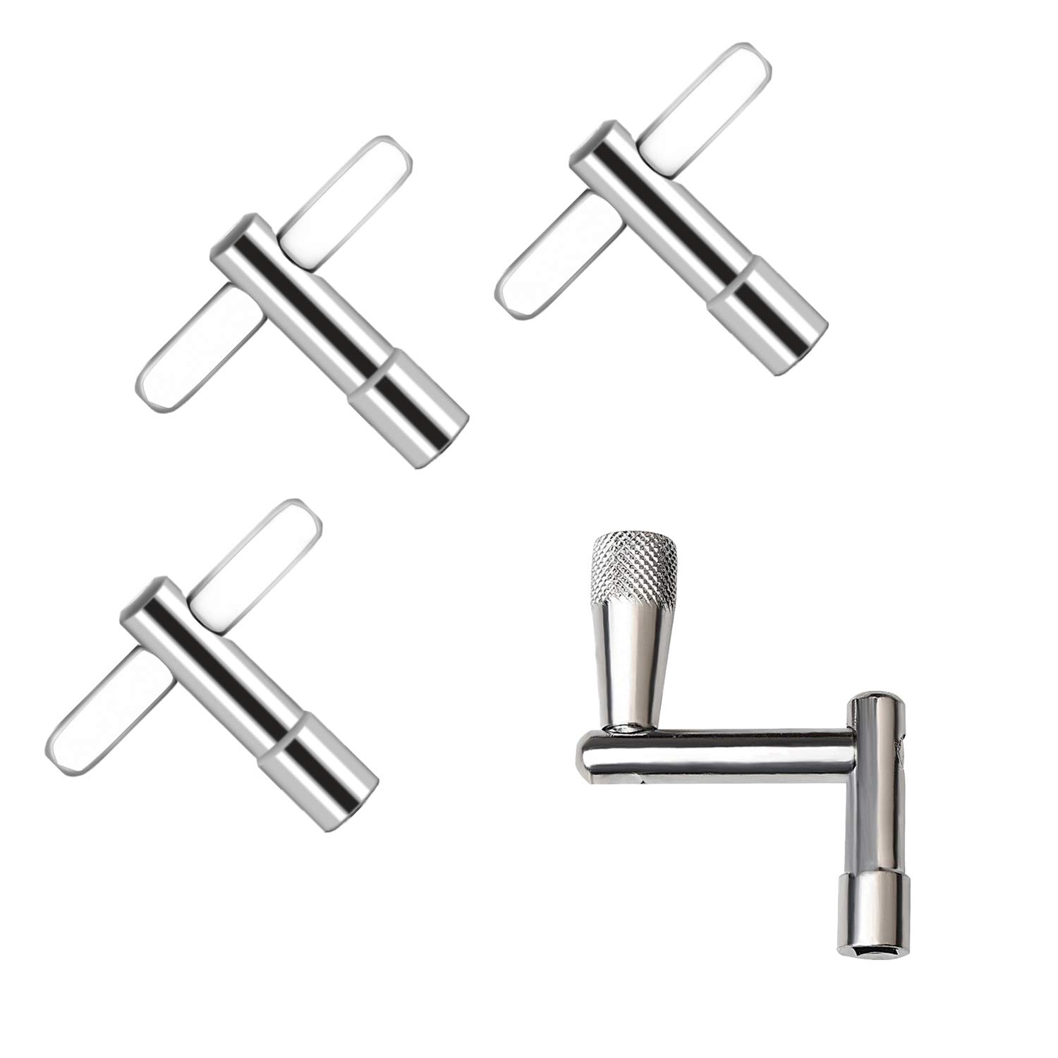 AIEX Drum Key 3-Pack with Continuous Motion Speed Key Universal Drum Tuning Key Drum Key Bit Set Drum Tension Key for Standard Drum