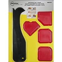 Benson Tools 008787 Silikon-Glätte-Satz 4 Piezas Silikonglätter Silkonfugen