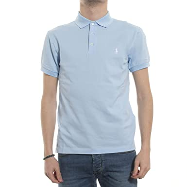 Polo Ralph Lauren SSKCSLM1-Short, Camiseta Slim Fit para Hombre ...