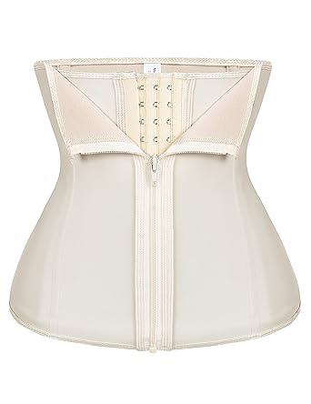 db0da3bd36dc4 FeelinGirl Women s Latex Sport Girdle Waist Training Corset Waist Shaper XL