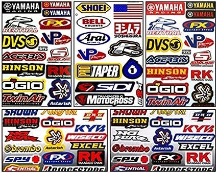 Motorcycle Motocross Dirt Bike Helmet 46 Oil FX MX MotoGP Logo Racing Stickers