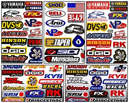 e Racing Decal Kit Sticker Set of 5 Sheets #Ym-502 ()