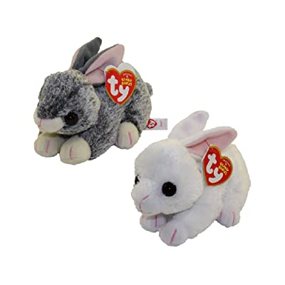 Ty Beanie Babies - 2020 Easter Bunnies Set of 2 (Smokey & Cotton) (6 inch): Toys & Games