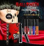Lip Gloss - Halloween Makeup Costume Ideas Waterproof Long Lasting Mate Madly Lip Gloss Liquid Lipstick - 6 Colors