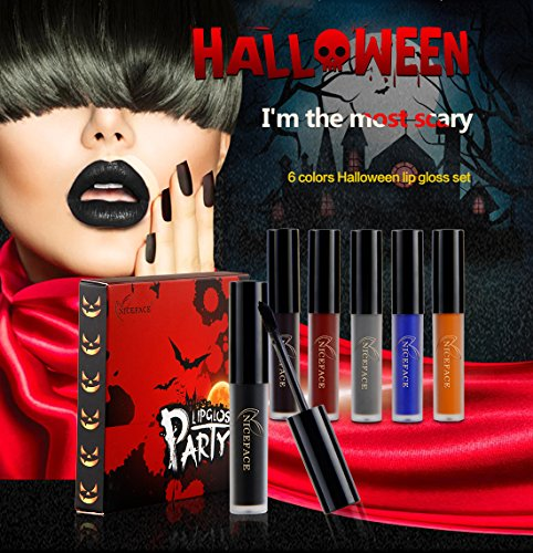 Lip Gloss - Halloween Makeup Costume Ideas Waterproof Long Lasting Mate Madly Lip Gloss Liquid Lipstick - 6 Colors