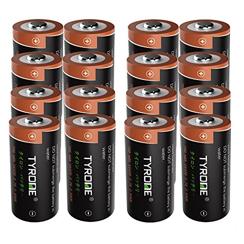 RCR123A Rechargeable Batteries for Arlo Wireless Cameras [ Security Cameras ][ 16 Pack 3.7V Li-ion CR123A ], Arlo Batteries Rechargeable, Tyrone Rechargeable 16340 Batteries by Tyrone-Battery