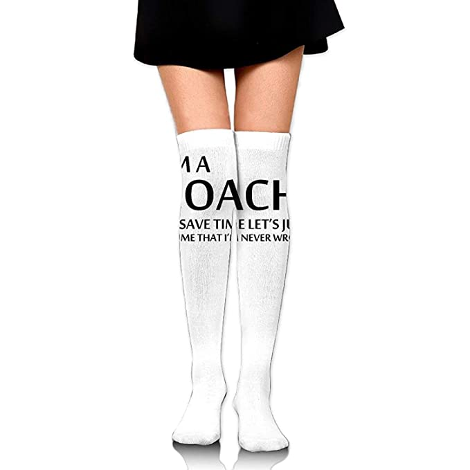 3c02c3ac9 Thigh high socks Women Crew Socks Thigh High Over Knee Lets Just Assume Dress  Legging Casual Compression Stocking(25.6inch)  Amazon.ca  Clothing   ...